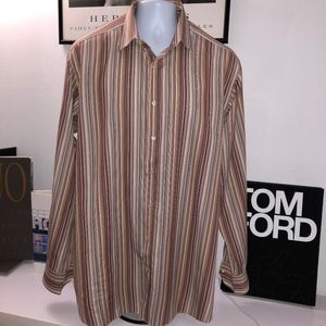 Etro Men's Striped Shirt Size 46